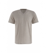 T-Shirt Melange V Neck Short Sleeves