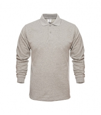 Polo Collar Sweatshirt For Men Melange