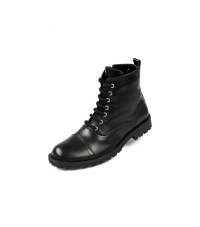 Boots For Men Zipped Lace Up