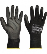 Cerva Bunting Black Gloves